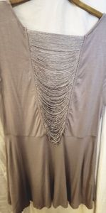 Free People blouse in silver with accents size med